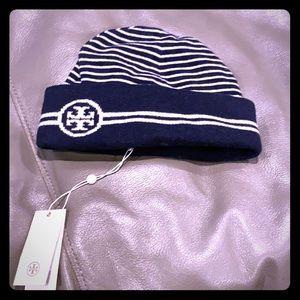 NWT Tory Burch reversible  beanie hat